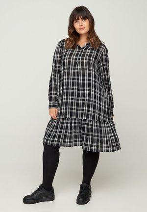 Shirt dress - black comb