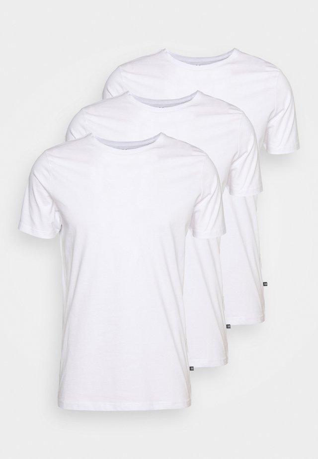 JERMANE 3 PACK - T-shirts - white/white/white