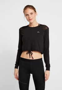 ONLY Play - ONPJAVA CROPPED TEE - Long sleeved top - black - 0