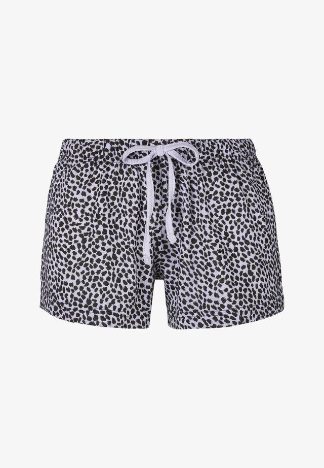 Pantaloni del pigiama - helllila schwarz