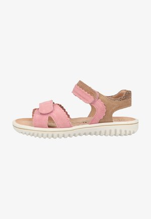 Walking sandals - rosa/beige