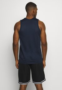 Nike Performance - DRY CROSSOVER - Sports shirt - obsidian/white - 2