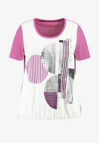 Samoon - T-shirt print - electric magenta gemustert - 2