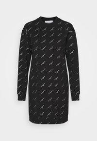 Calvin Klein Jeans - LOGO DRESS - Day dress - black - 4