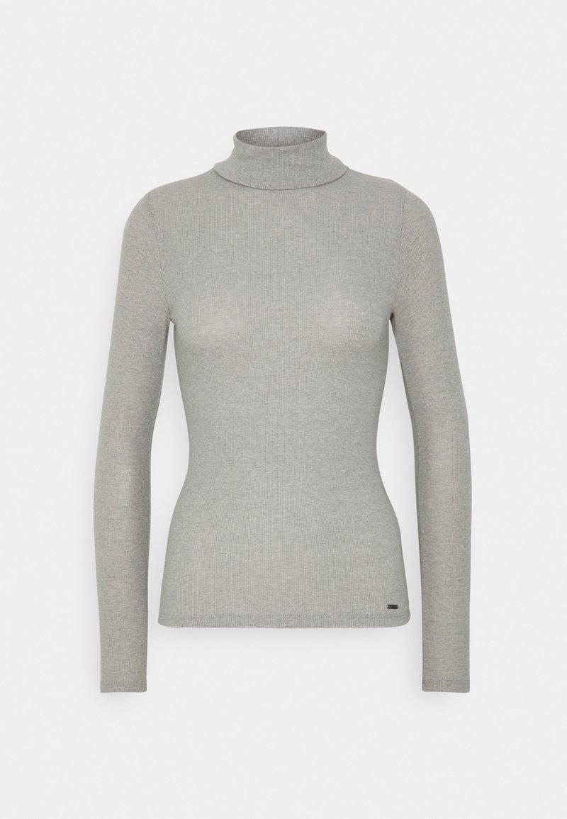 Hollister Co. - SLIM TURTLE  - Long sleeved top - grey