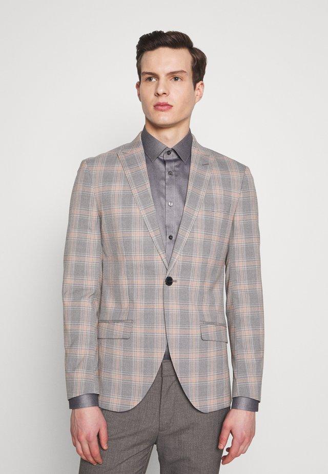 JPRBLAKEVIN CHECK BLAZER - Blazer jacket - grey melange