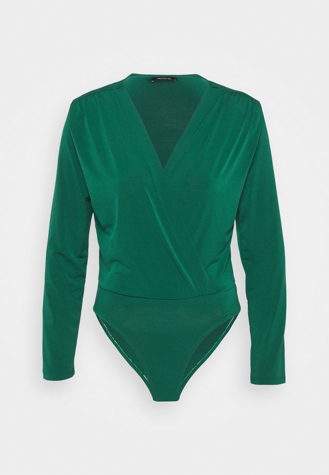 Long sleeved top - emerald green