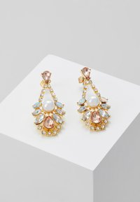 Pieces - DROP EARRINGS - Earrings - gold-coloured/blush - 0