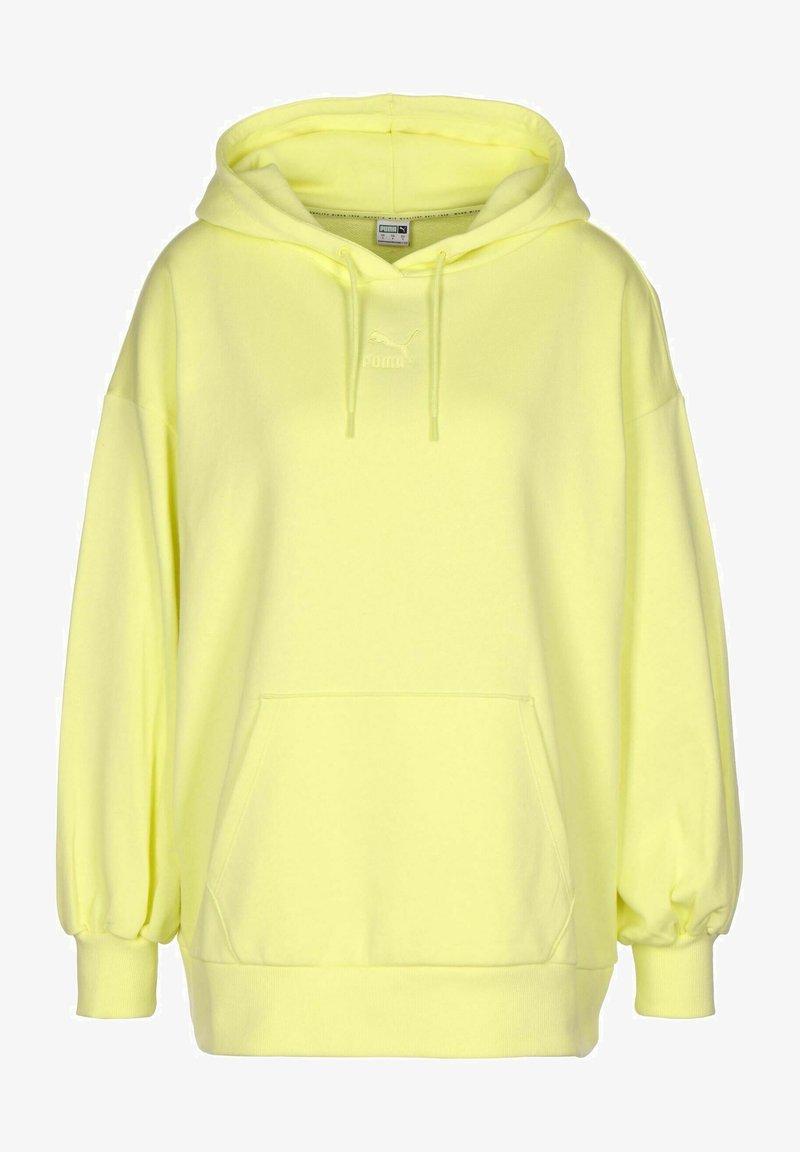 Puma - CLASSICS - Hoodie - yellow pear