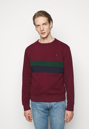 Sweatshirt - bordeaux/dark green/dark blue