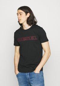 Diesel - 2 PACK - Print T-shirt - blue/black - 1