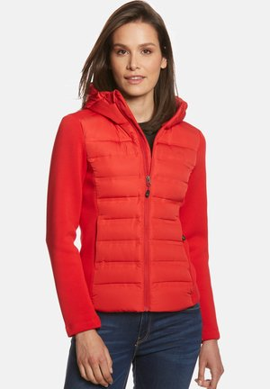 JONNA HYBRID - Down jacket - cherry