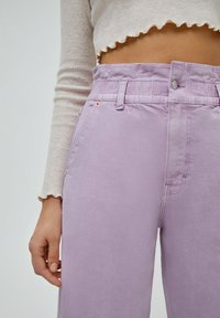 PULL&BEAR - PAPERBAG - Relaxed fit jeans - purple - 3