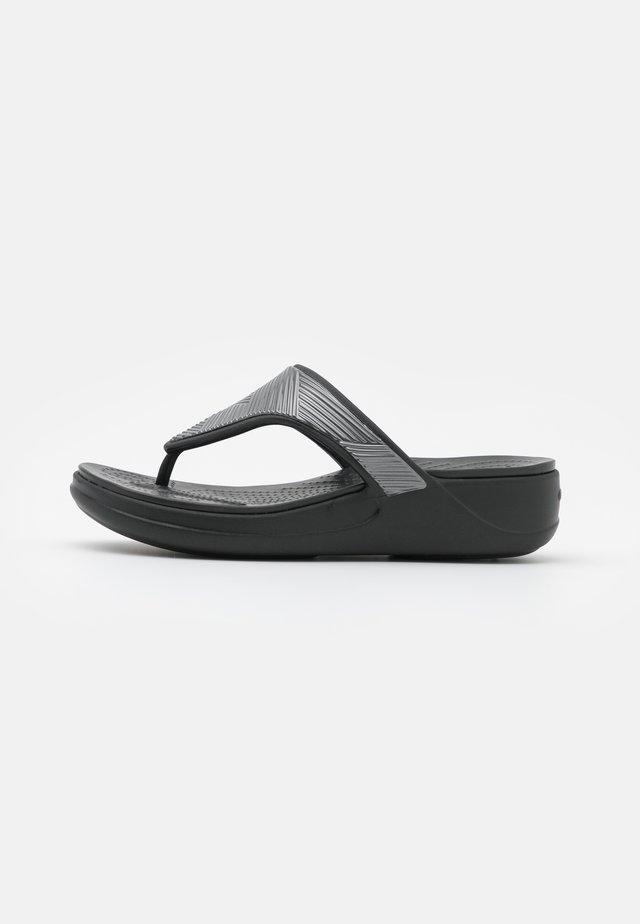 MONTEREY METALLIC  - Sandalias de dedo - black