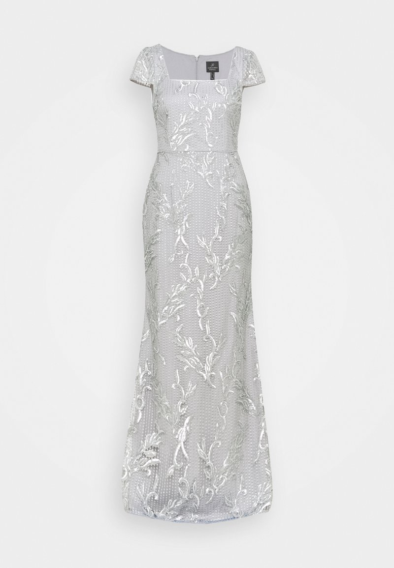 Adrianna Papell - SEQUIN EMBROIDERY MERMAID GOWN - Iltapuku - silver dove