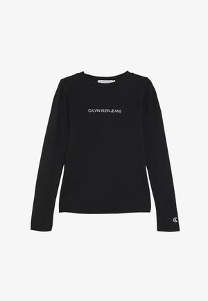 LOGO - Long sleeved top - black