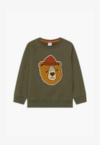 Lindex - PRINT BEAR - Sweatshirt - khaki green - 0