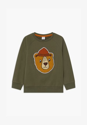 PRINT BEAR - Sweatshirt - khaki green