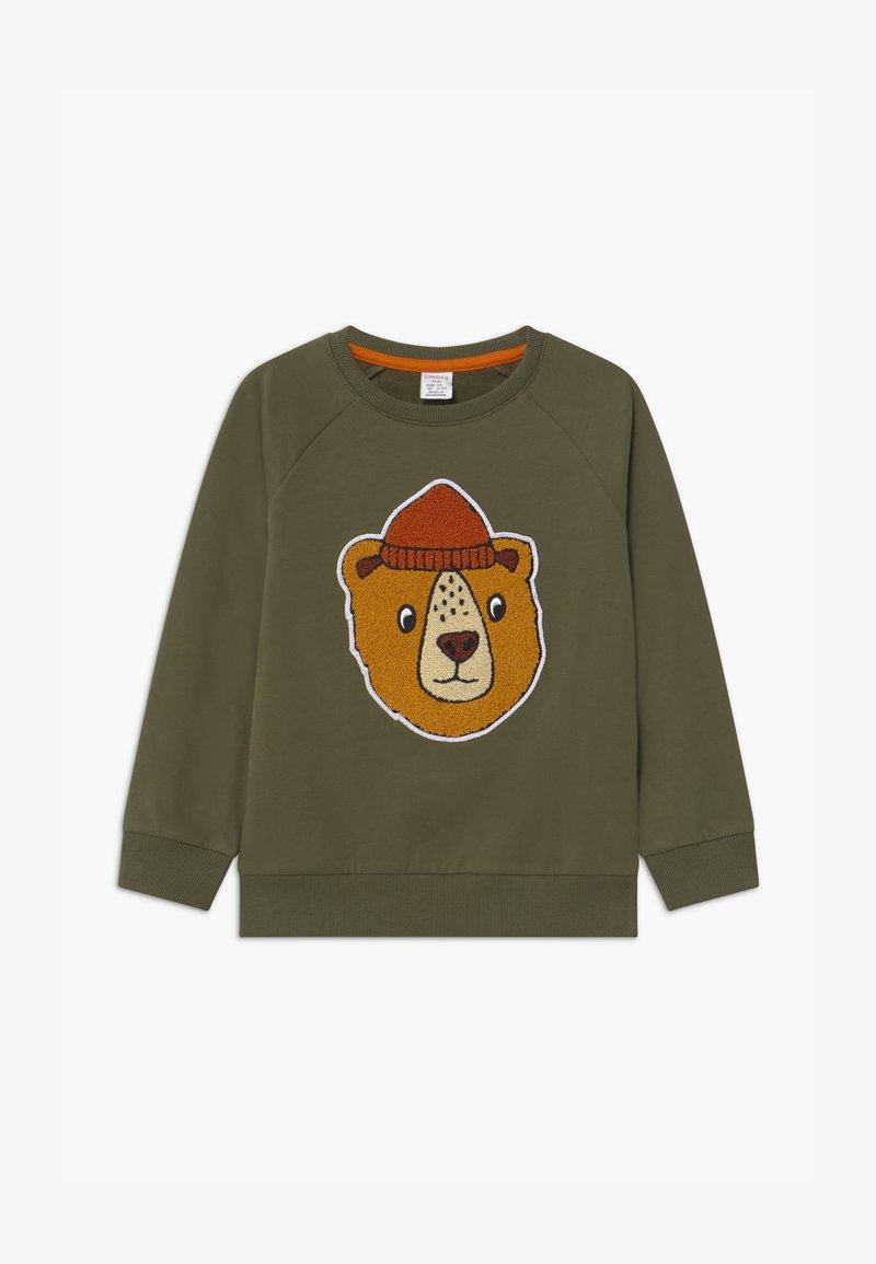 Lindex - PRINT BEAR - Sweatshirt - khaki green