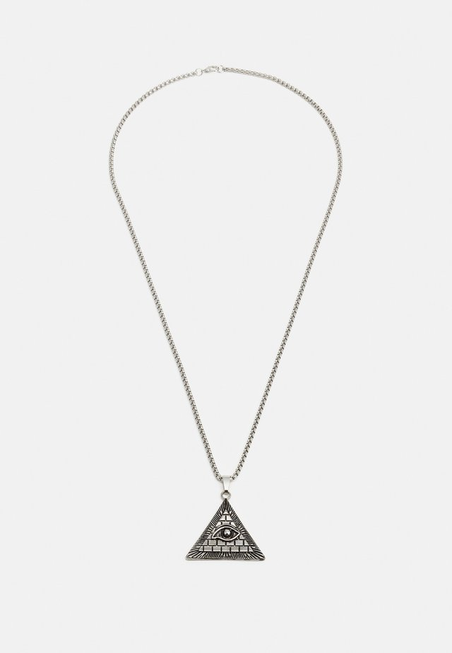 TRIANGLE NECKLACE - Naszyjnik - silver-coloured