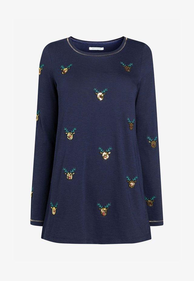 CHRISTMAS - Long sleeved top - dark blue