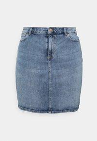 Pieces Curve - PCLILI SKIRT - Mini skirt - light blue denim - 0