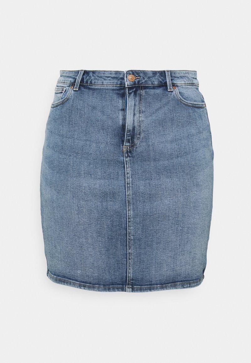 Pieces Curve - PCLILI SKIRT - Mini skirt - light blue denim