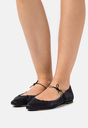REGINA - Ankle strap ballet pumps - noir