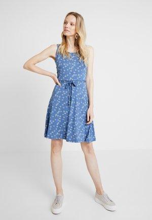 DRESS - Jersey dress - grey blue