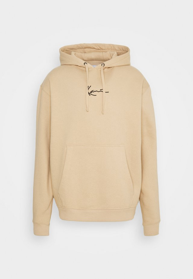 UNISEX SMALL SIGNATURE HOODY  - Sweatshirts - sand