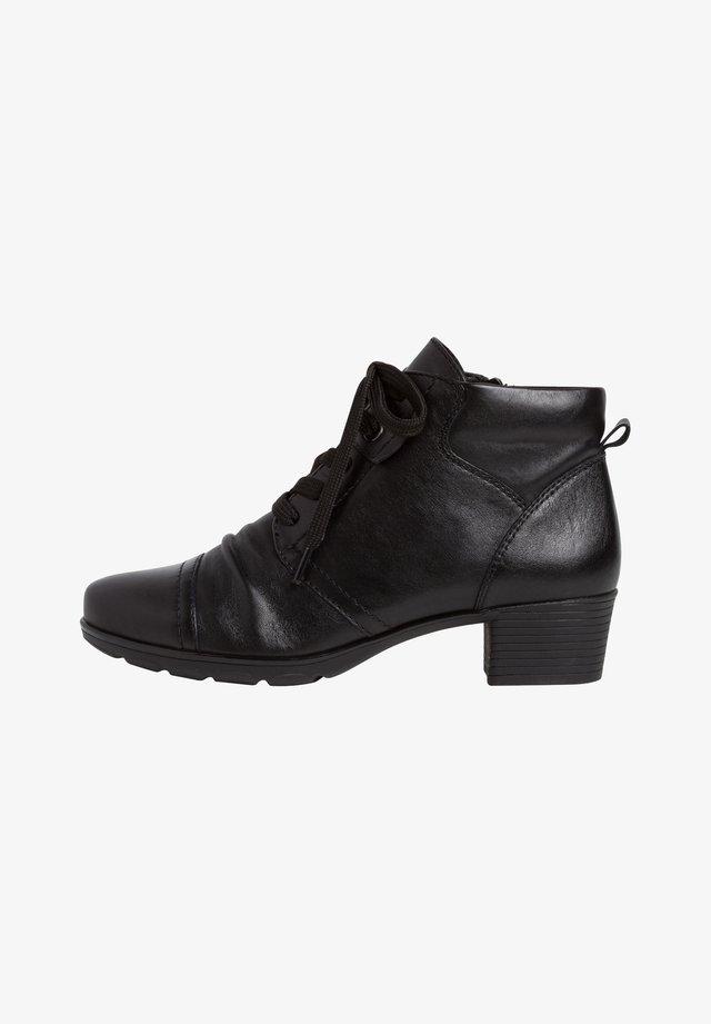 STIEFELETTE - Bottines à lacets - black