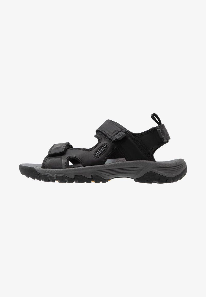 Keen - TARGHEE III OPEN TOE  - Chodecké sandály - black/grey