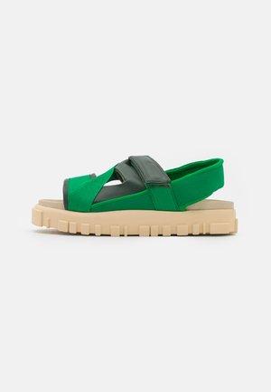 NATIONAL - Platform sandals - green