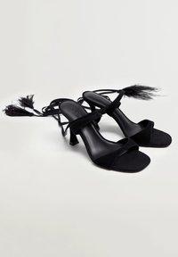 Violeta by Mango - PLUMAS - High heeled sandals - noir - 2