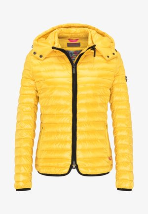 DAUNENJACKE NELLY II MIT ABNEHMBARER KAPUZE - Down jacket - golden yellow