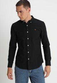Farah - BREWER - Overhemd - black ink - 0
