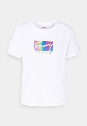 REGULAR METALLIC BOX TEE - T-shirts print - white