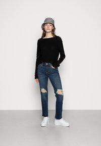 Even&Odd - BASIC- BACK DETAIL JUMPER - Pullover - black - 1
