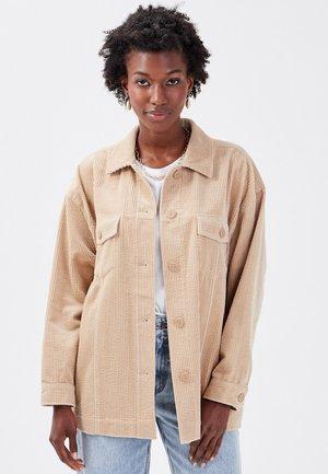 LANGARM-OVER - Button-down blouse - sable
