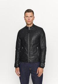 Schott - LCJULES - Leather jacket - black - 0