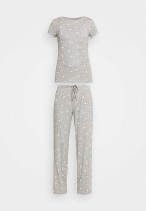 PRINT SET - Pyžamo - grey mix