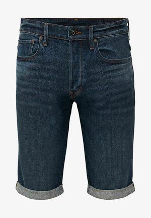 Denim shorts - otas stretch denim - worn in blue stone