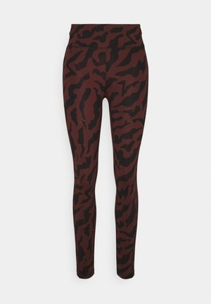 ICONIC PRINTED 7/8 - Tights - escape red