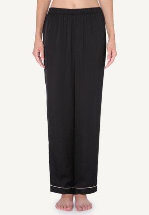 SATINHOSE - Pyjama bottoms - black