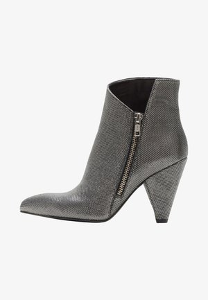 MARLENA - High heeled ankle boots - silver