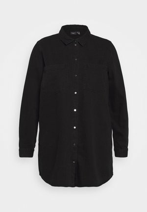 VMMILA LS LONG SHIRT  - Button-down blouse - black