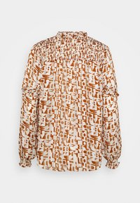 Scotch & Soda - SHEER SHIRT WITH ALL OVER PRINT - Button-down blouse - beige - 1