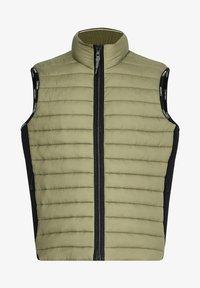 Calvin Klein - CRINKLE VEST - Waistcoat - delta green - 4