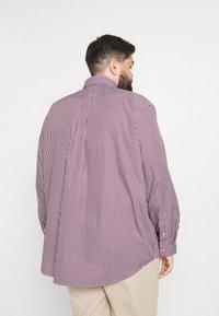 Polo Ralph Lauren Big & Tall - LONG SLEEVE SPORT SHIRT - Shirt - wine/white - 2
