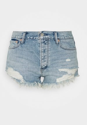 LOVING GOOD VIBRATIONS - Denim shorts - light denim